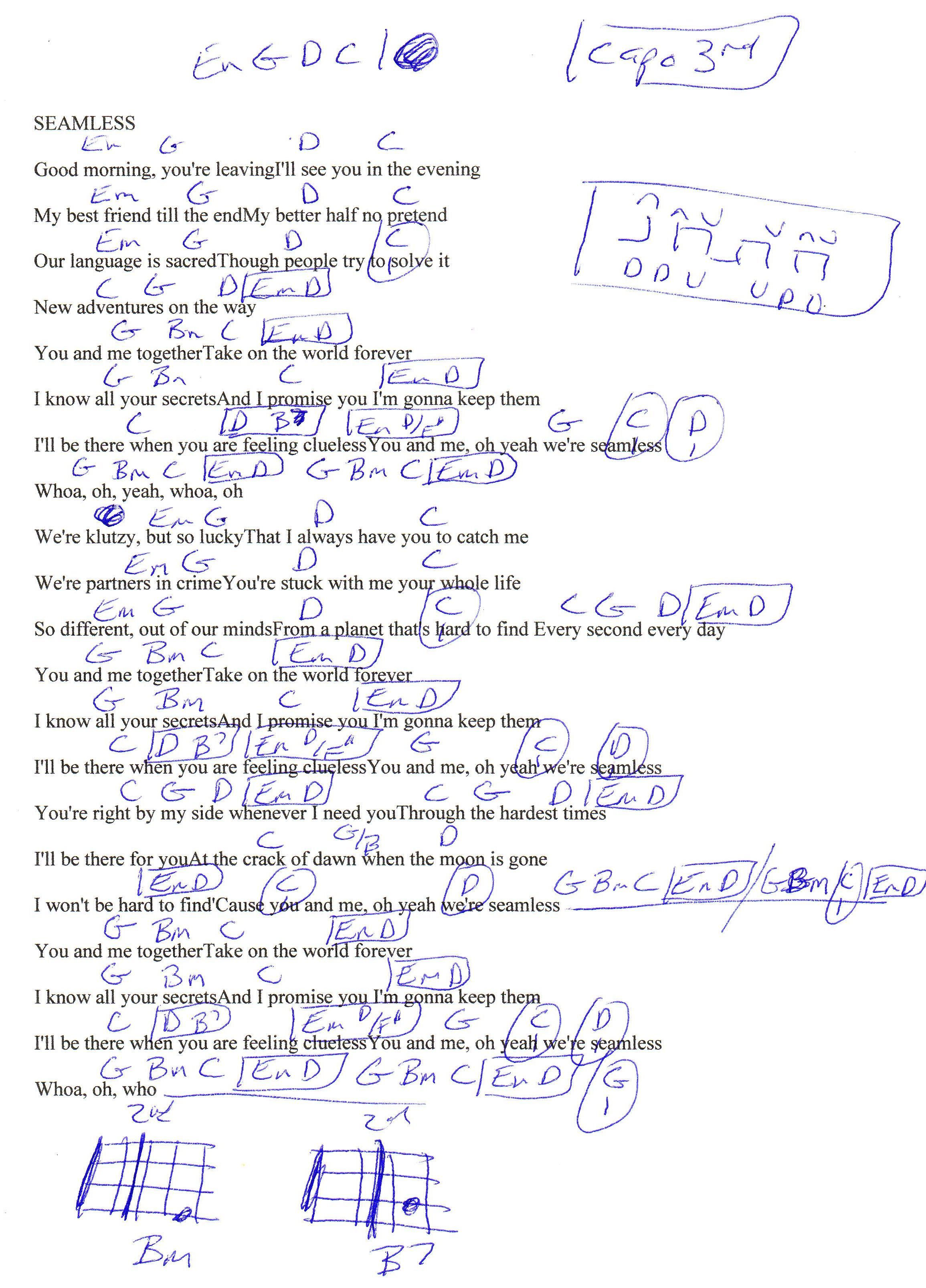 Ill Be There For You Guitar Chords -|- abroad center