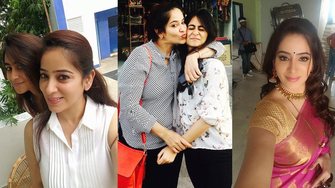Saravanan Meenatchi Serial Lakshmi with Daughter Actress Lakshmi Vasudev