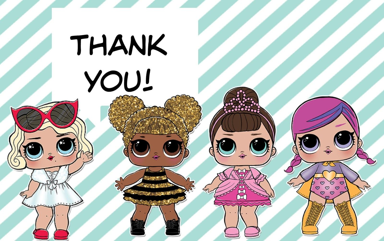 L O L Surprise Dolls Thank You Cards