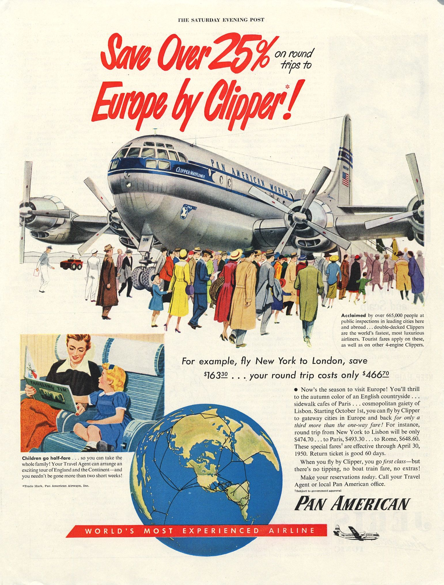 """American Airlines 8.5/' X 11/""""  Travel Poster FLAGSHIP"""