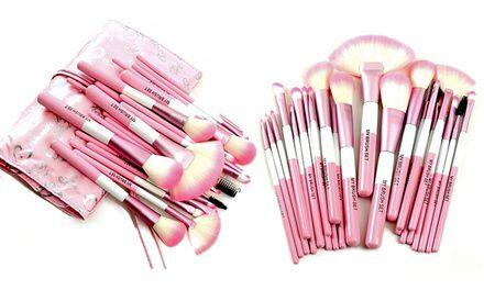 Babylicious Pink Heart 24 Piece Makeup Brush Set Makeup Brush Set Pink Makeup Brush Makeup Brush Reviews