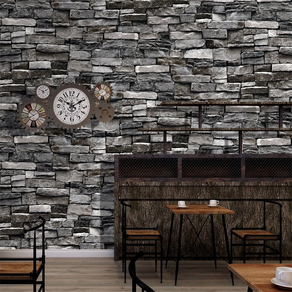 Us 399 Haokhome Vintage Faux Brick Wallpaper 3d Roll Red