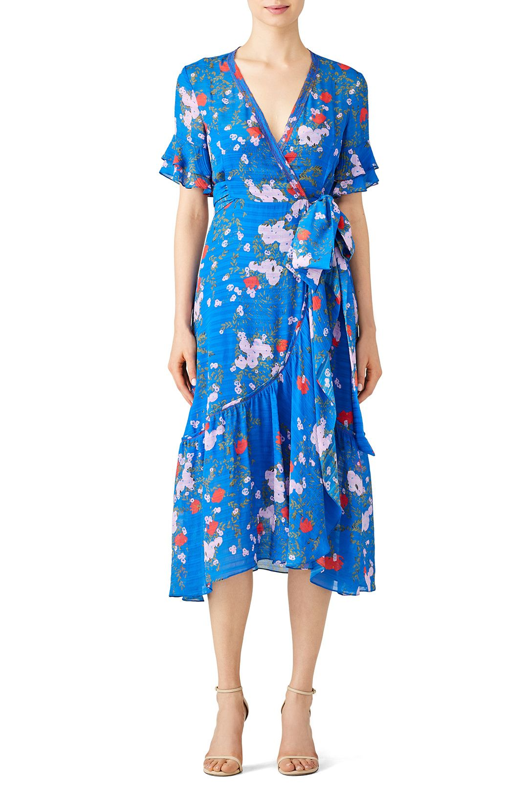98abdb10146d Rent Floral Blaire Wrap Dress by Tanya Taylor for $80 only at Rent the  Runway.