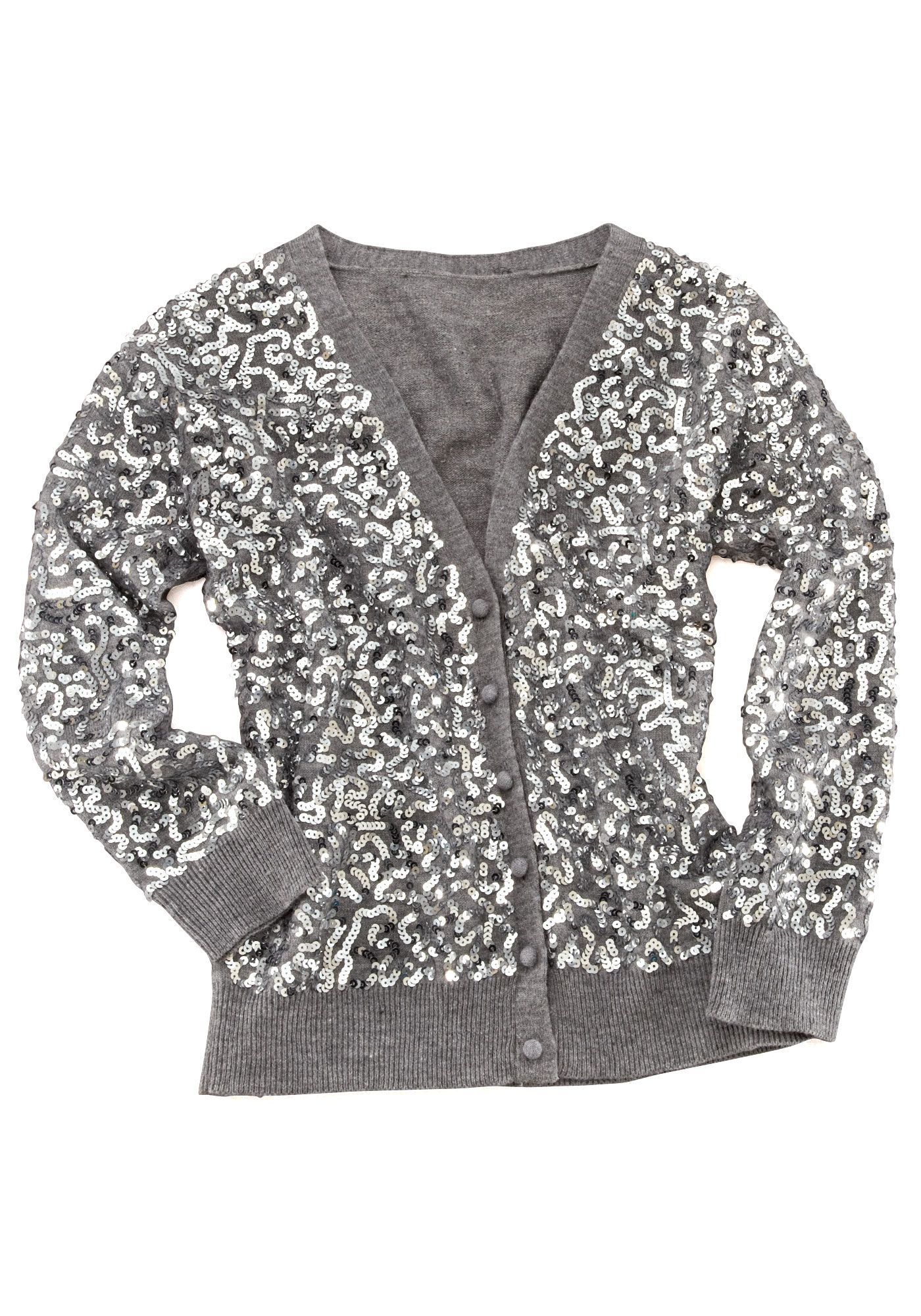 Silver Sequin Cardigan | Dress hippy | Pinterest | Sequin cardigan ...