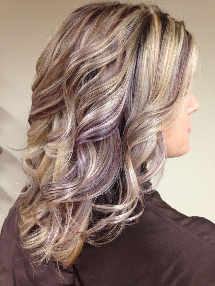 Purple Lowlights In Blonde Hair Asian Black Hairstyles In