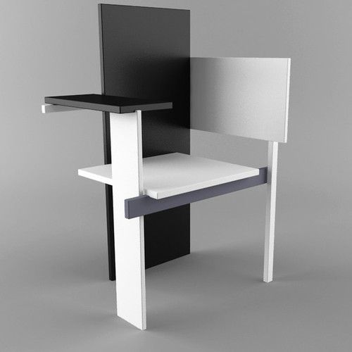 Bauhaus Look Stoelen.Gerrit Rietveld Berlijnse Stoel Berlin Chair Stoelen