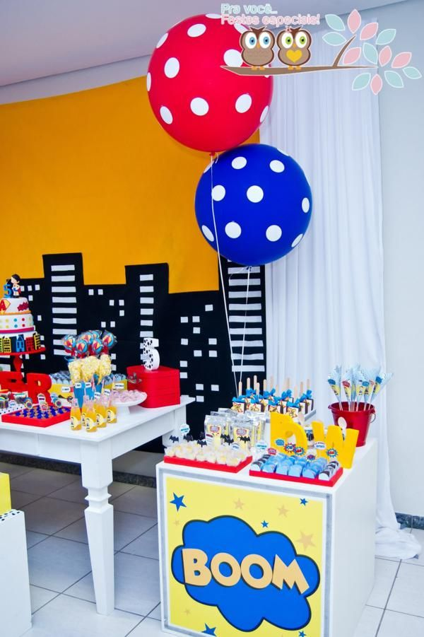 Superhero Themed 5th Birthday Party Superhero Birthday Party