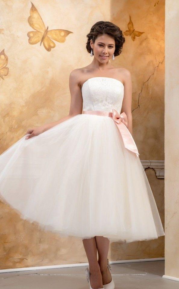 4f577b9234d8 MARIANA - abito da sposa corto a palloncino