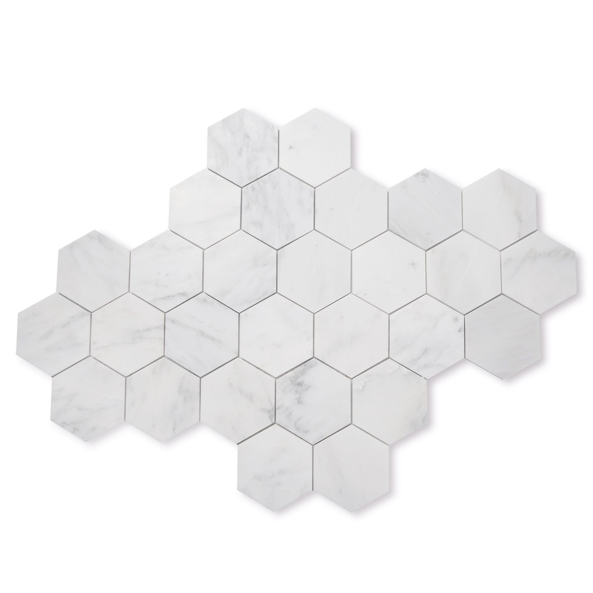 Shop All Tile Casablanca Marble 5 Hexagon Instagram See More Images On Instagram Casablanca Carrara Marble Honed 5 In 2020 Hexagonal Mosaic Hexagon Marble Tile