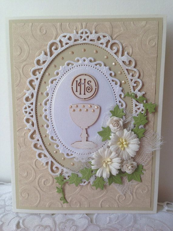 On Your First Holy Communion Girl Clear Boxed Card