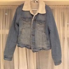 Vintage Style Denim Shearling Lined Collar Jacket 10