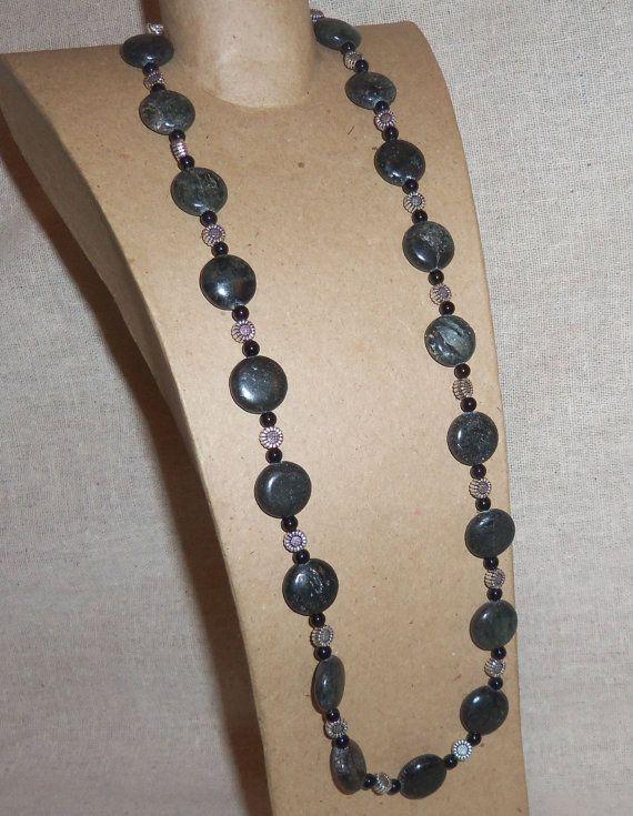 Black Fishscale JASPER and BLACK ONYX Gemstone by PastsPresents, $23.00