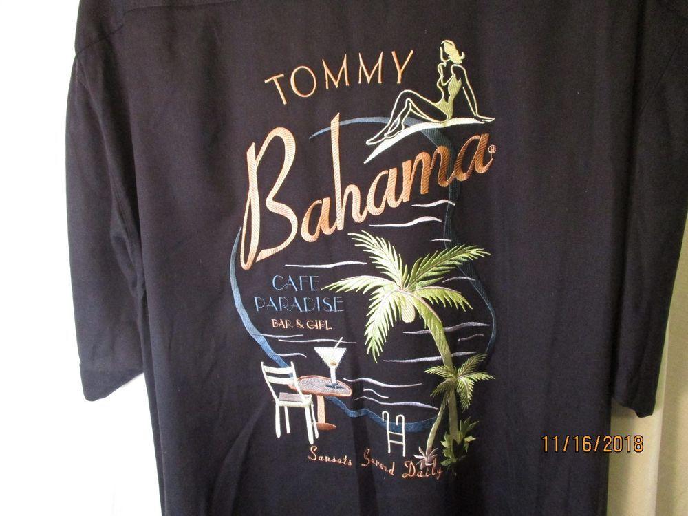 Large Black TOMMY BAHAMA