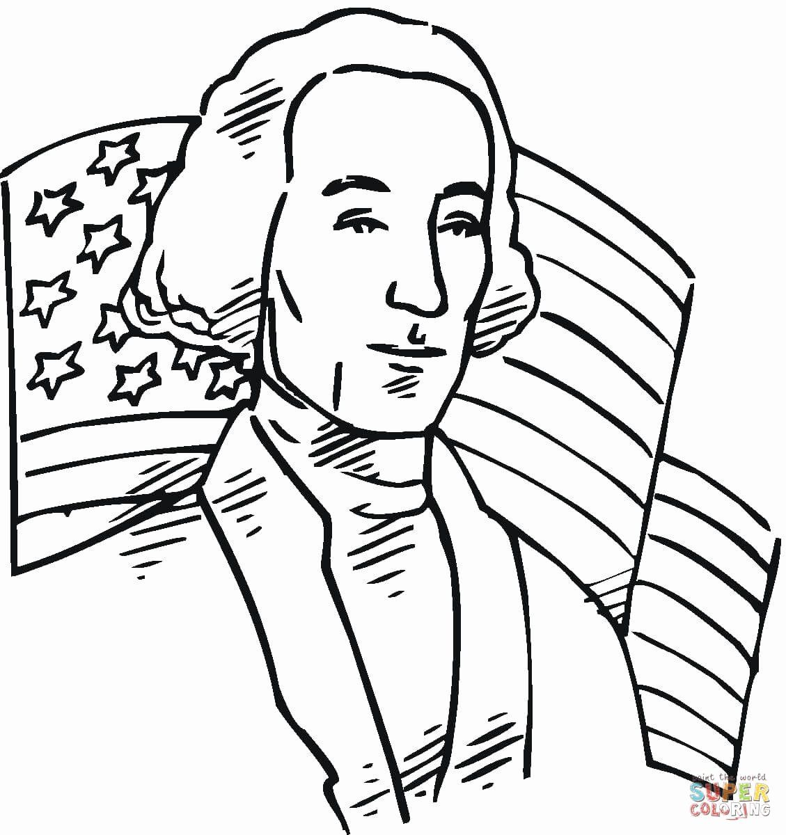 George Washington Coloring Page Luxury George Washington First President Of The Usa Col Coloring Pages Curious George Coloring Pages George Washington Pictures