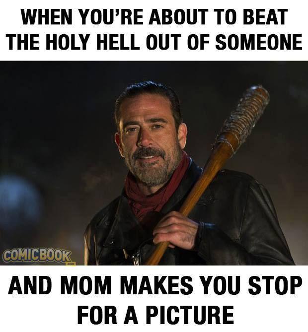The Walking Dead Negan Funny Meme Walking Dead Memes Walking