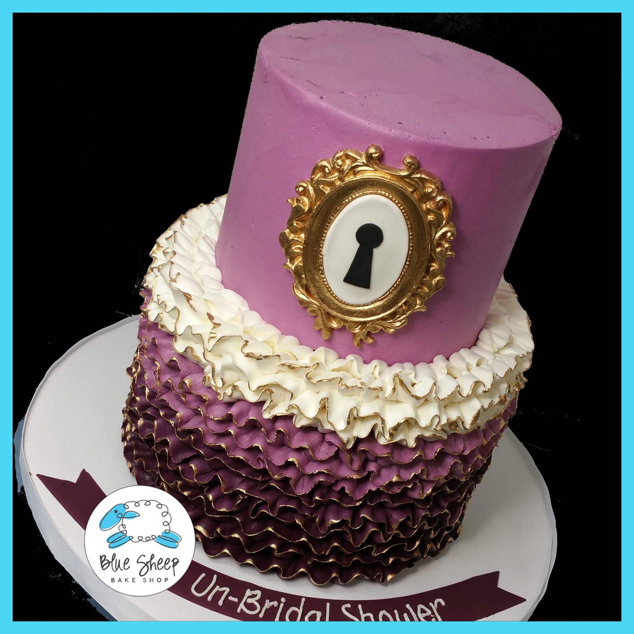 Alice In Wonderland Buttercream Ruffle Cake With Images