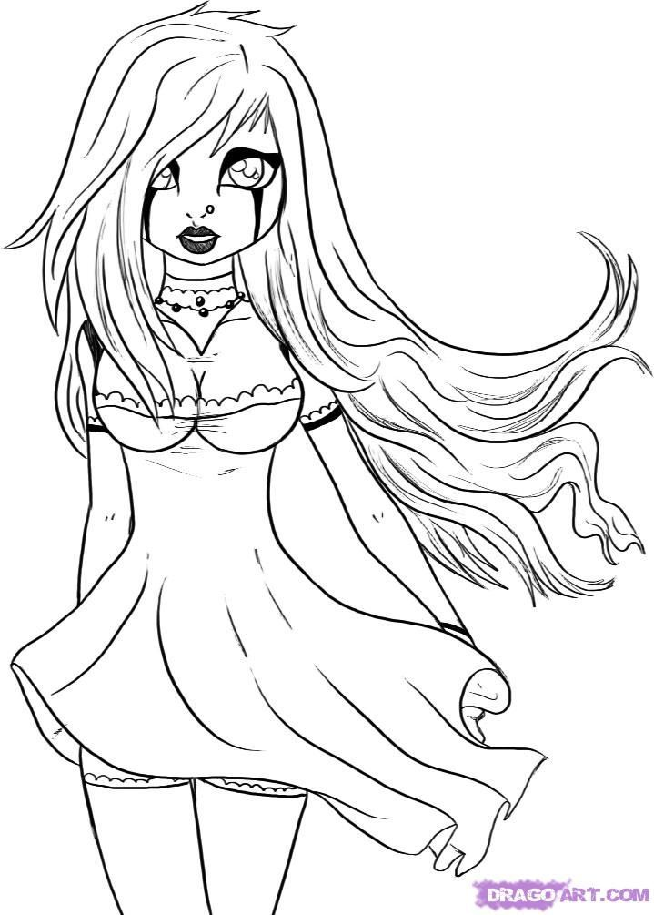 gothic coloring pages # 14
