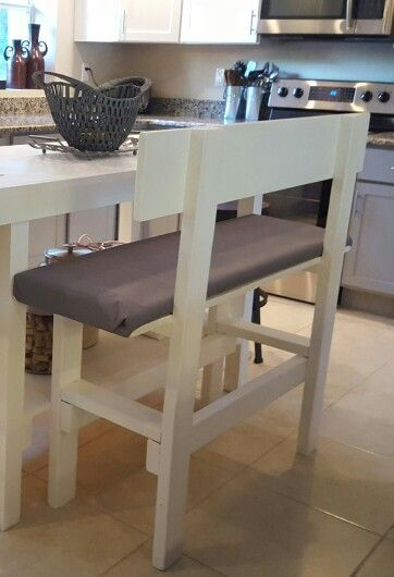 Diy Bench Counter Height From Wood Bought And Cut By Lowes Those