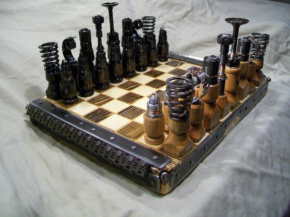 Engine parts chess set album 9 chess set chess