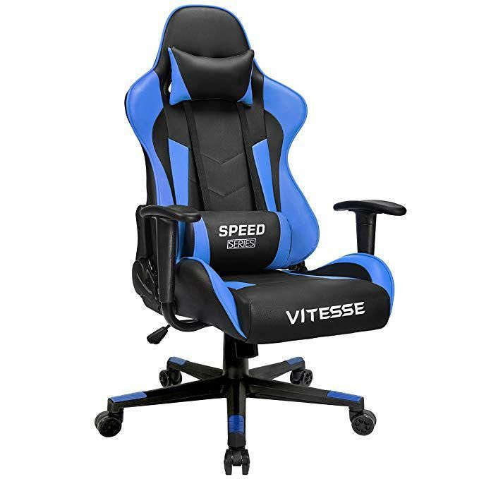 Gaming Pc Chair Electric Recliner Covers Vitesse Computer Racing Style High Back Ergonomic Office Desk Swivel E Sports Leather With Lumbar Support And