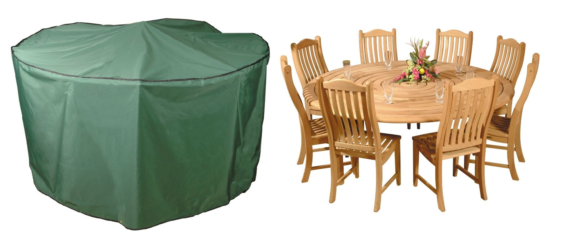 Bosmere Premier 300cm 8-10 Seater Green Circular Patio Set Garden ...