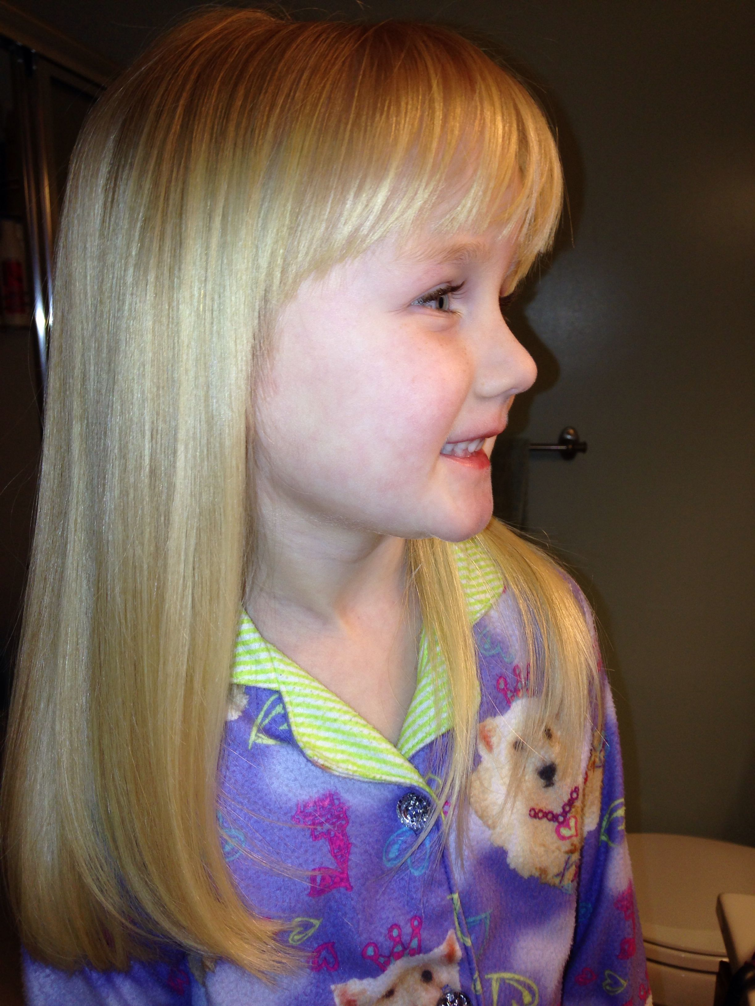little girls haircut. if we keep it long with bangs. | boys