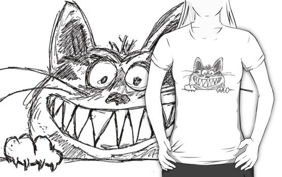 Crazy smiling cat T-Shirts & Hoodies by mrhighsky on redbubble