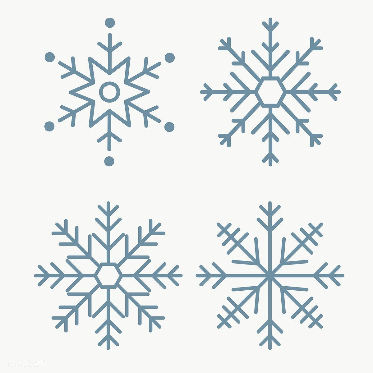 Download free png of Christmas snowflake social ads template set