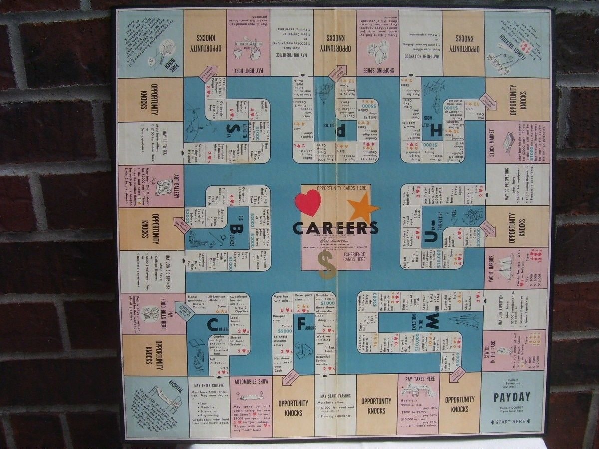 Careers Board Games Board games, Games, Opportunity knocks