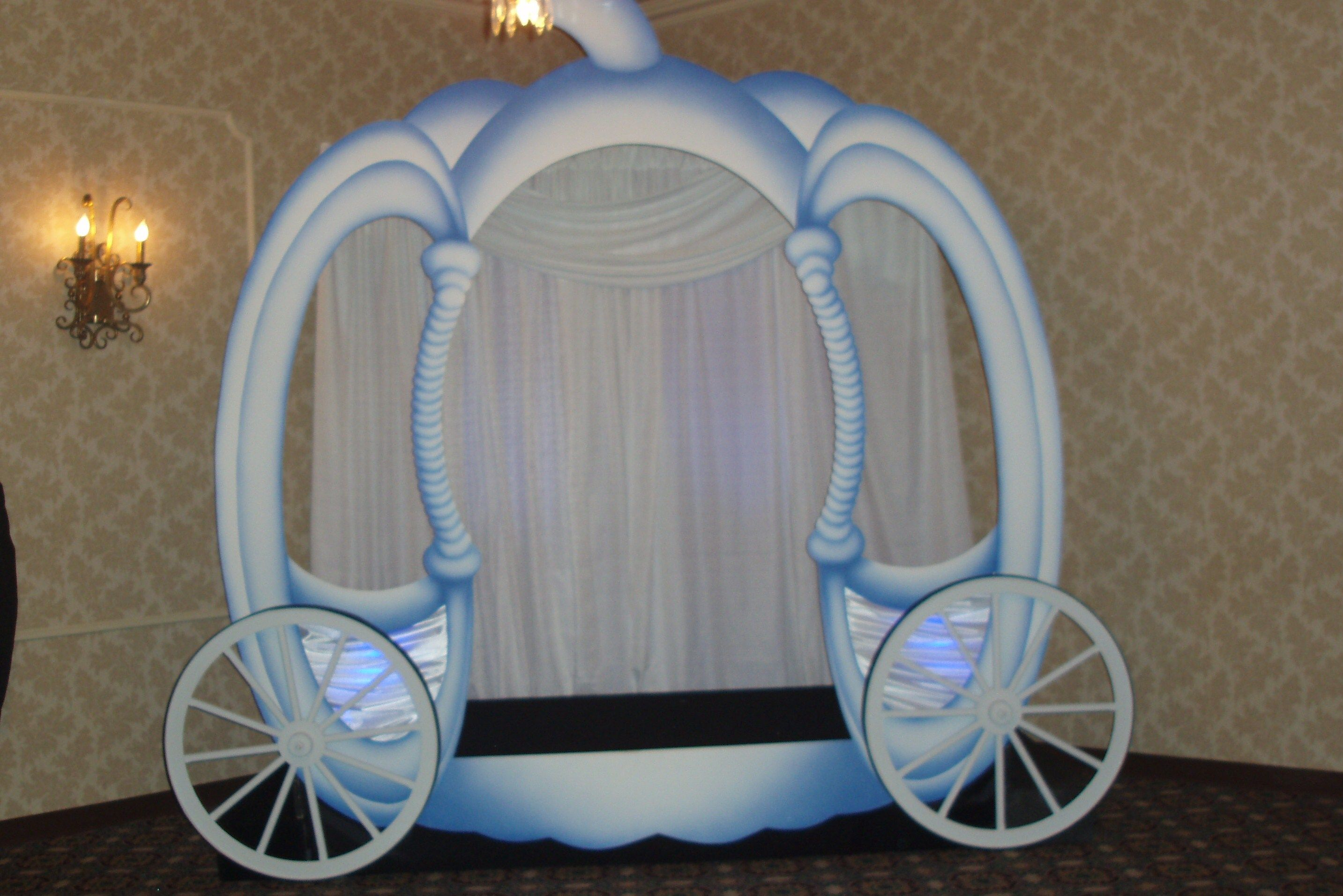 Coach Photo Backdrop Cinderella Party Decorations