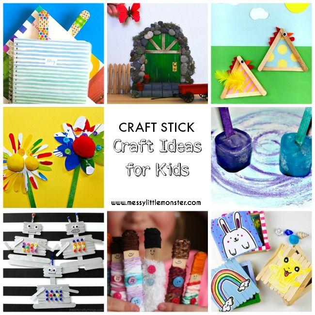 Craft Stick Craft Ideas For Kids Craft Stick Crafts Popsicle