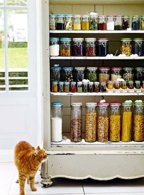 We're adding organization to our pantry today with these swing top spice jars.