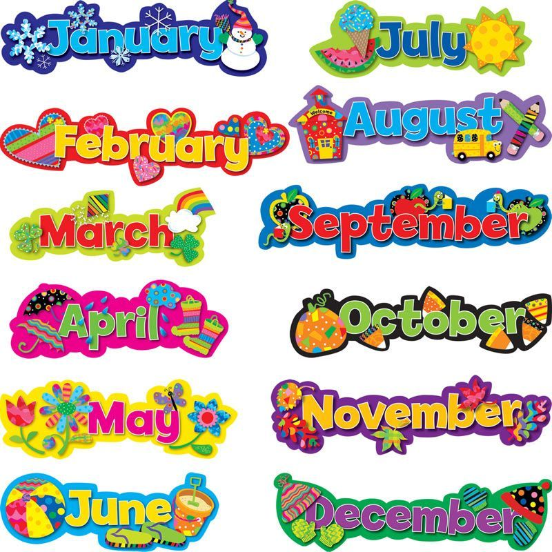 These are so bright and colorful perfect for morning for Calendar bulletin board printables