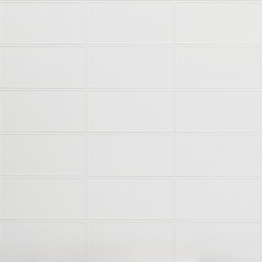 Stacy Garcia Maddox Frame White 4x8 Matte Ceramic Wall