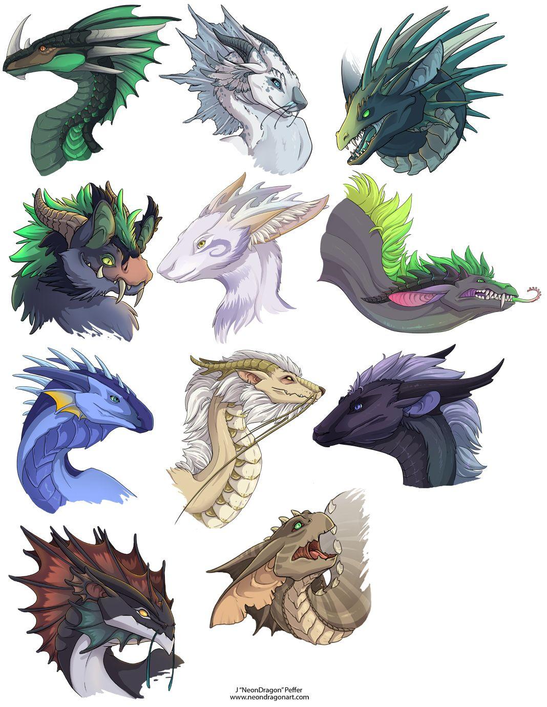 NeonDragonArt.com: Fantasy Art - Dragon Heads 1. She is my favourite ...