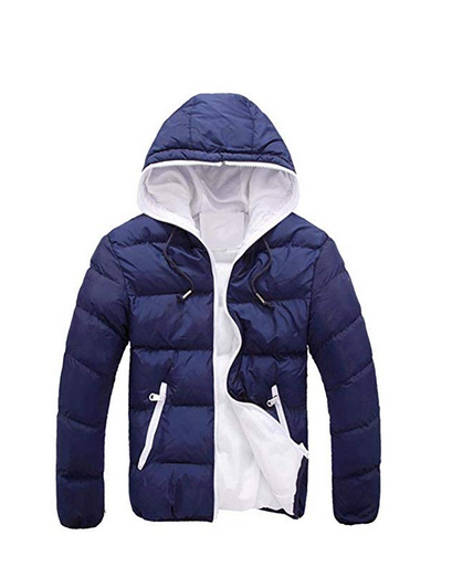 77bf285ef BHYDRY Fashion Men's Slim Casual Warm Jacket Hooded Winter Thick Coat Parka  Overcoat Hoodie Solid Outwear - £8.90