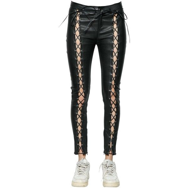 Latest Online Sale Finishline Filles A Papa skinny lace-up leather trousers gqTUX0
