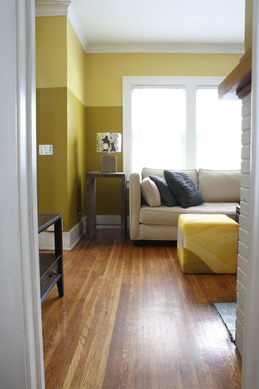 Paint colors and contrast love height paints effects - Painting living room walls two colors ...