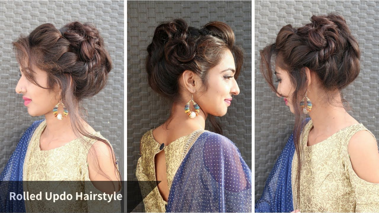 Heatless Messy Rolled Updo Hairstyle For Eid Hairstyle For Gown Sarri Youtube Hairstyle Hair Styles Hairstyles For Gowns