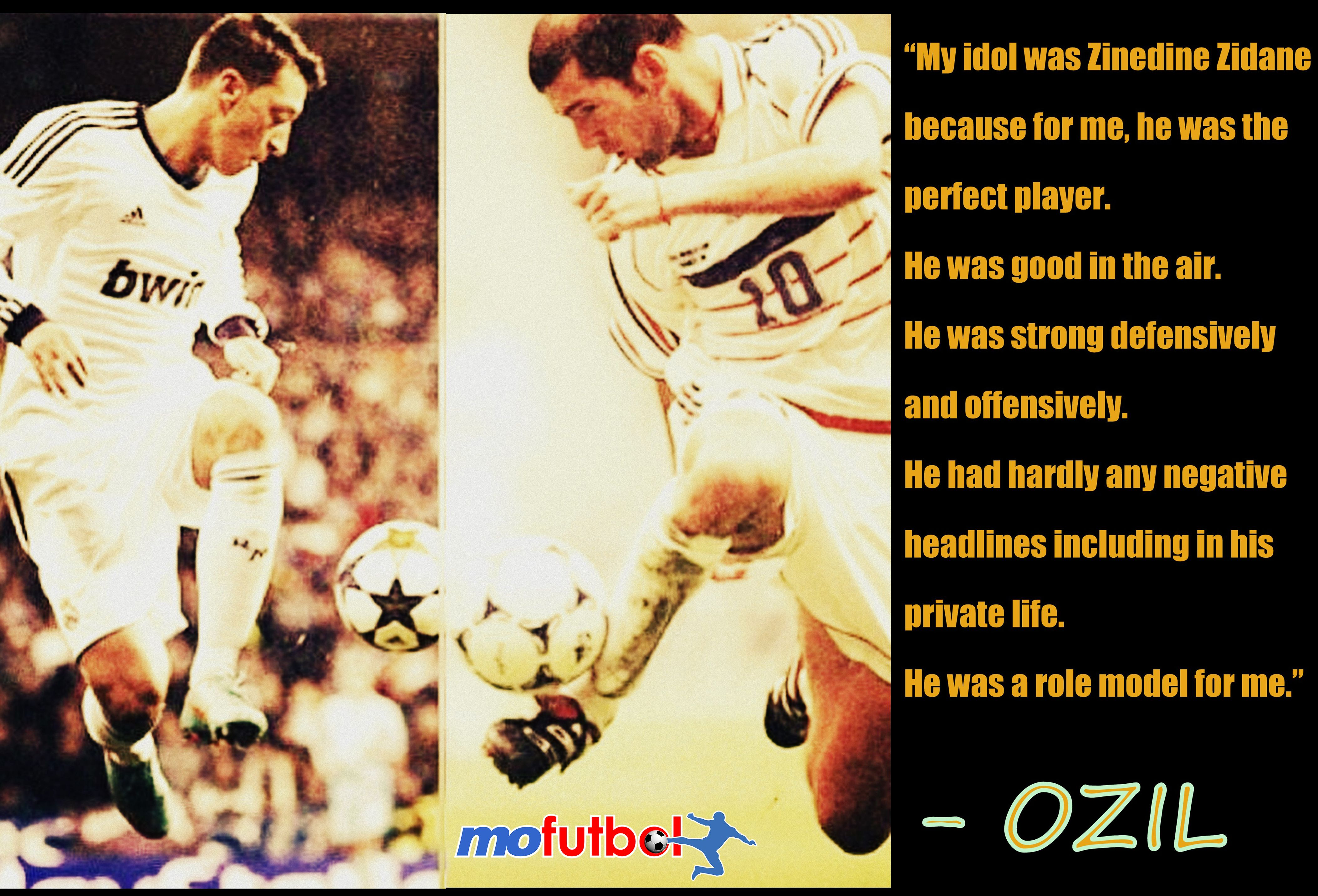 Zinedine Zidane Was A Role Model For Ozil To Know More About Ozil And Fifa World Cup 2014 Visit Http Bit Ly 1jtgp Role Models Zinedine Zidane Fifa World Cup