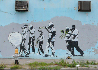 Banksy Toxic New Orleans Secondline Painted Shortly After Hurricane Katrina