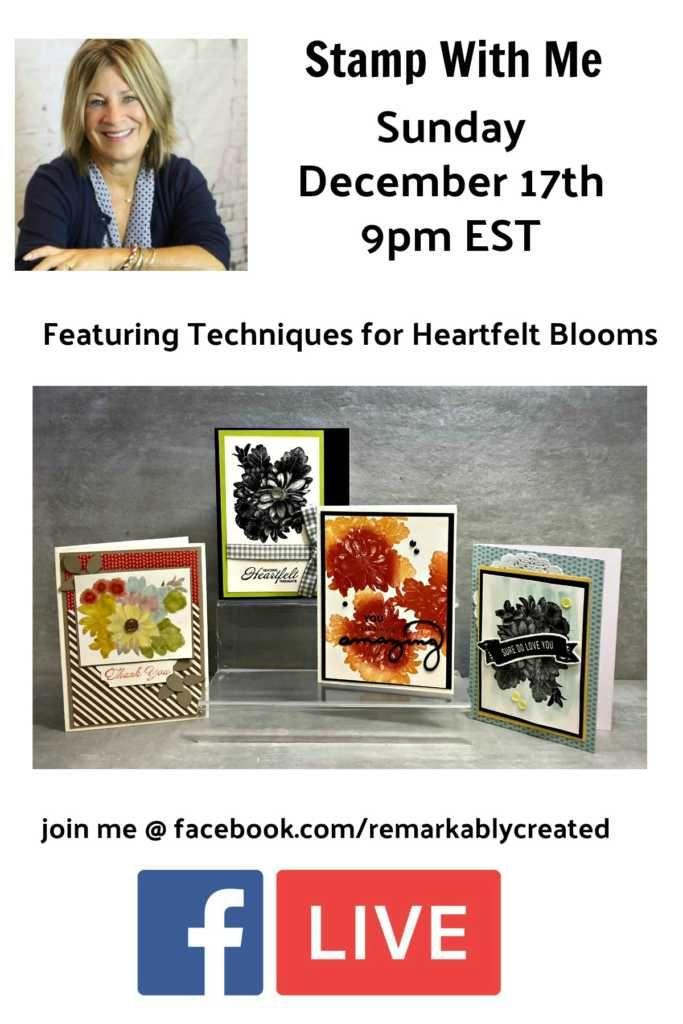 Heartfelt Blooms 2018 Sale a bration Offering   Cards, Fun