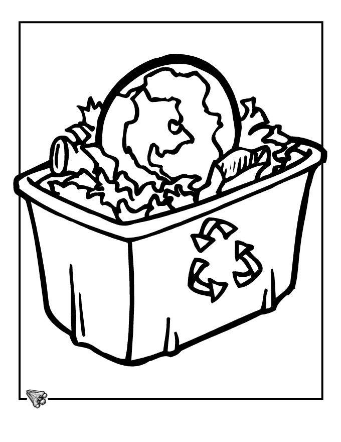 Contenedor de reciclaje. Recicle box. | Dibujos para colorear ...