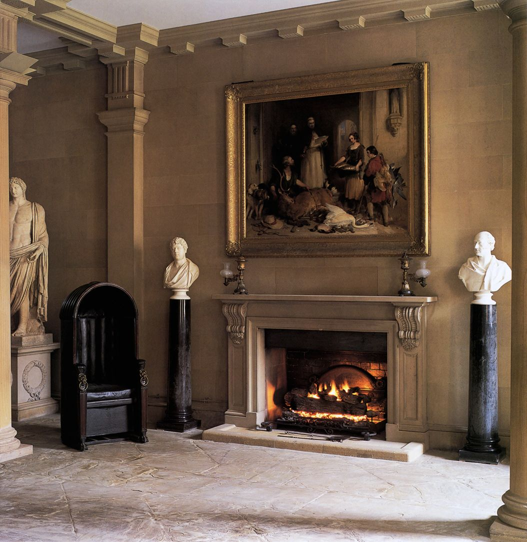 North Entrance Hall at Chatsworth House, Derbyshire, 1687