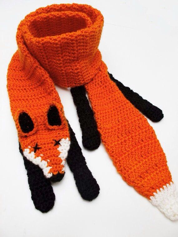 Crochet Fox Scarf By Novelopt On Etsy 2500 Nicole Taylor