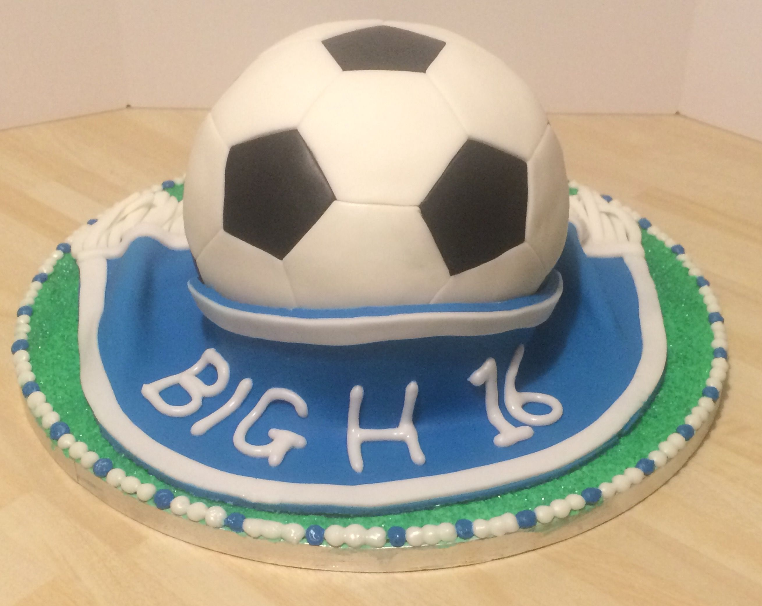 Back of the football cake