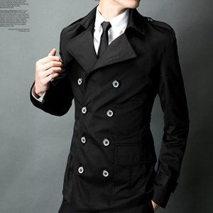 Collection Mens Trench Coat Black Pictures - Reikian