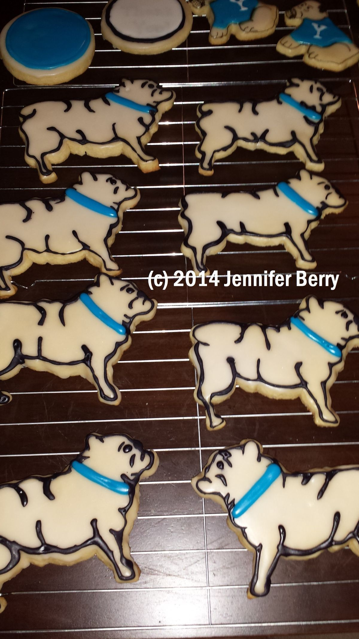 Yale Bulldog Cookies Gingerbread Cookies Berries Cookies
