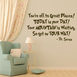 Charmant Vinyl Wall Decals Dr Seuss Quote Home Decor