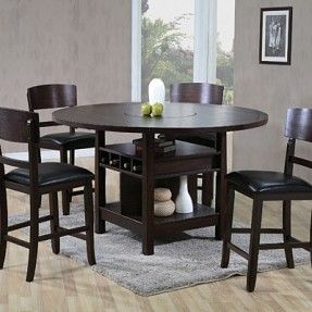 5 Piece Lazy Susan Pub Table Set At Big Lots